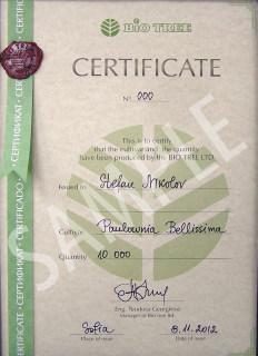 Biotree Certificate
